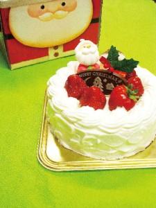 無添加生クリームのクリスマスケーキ