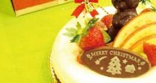無添加フルーツタルトのクリスマスケーキ